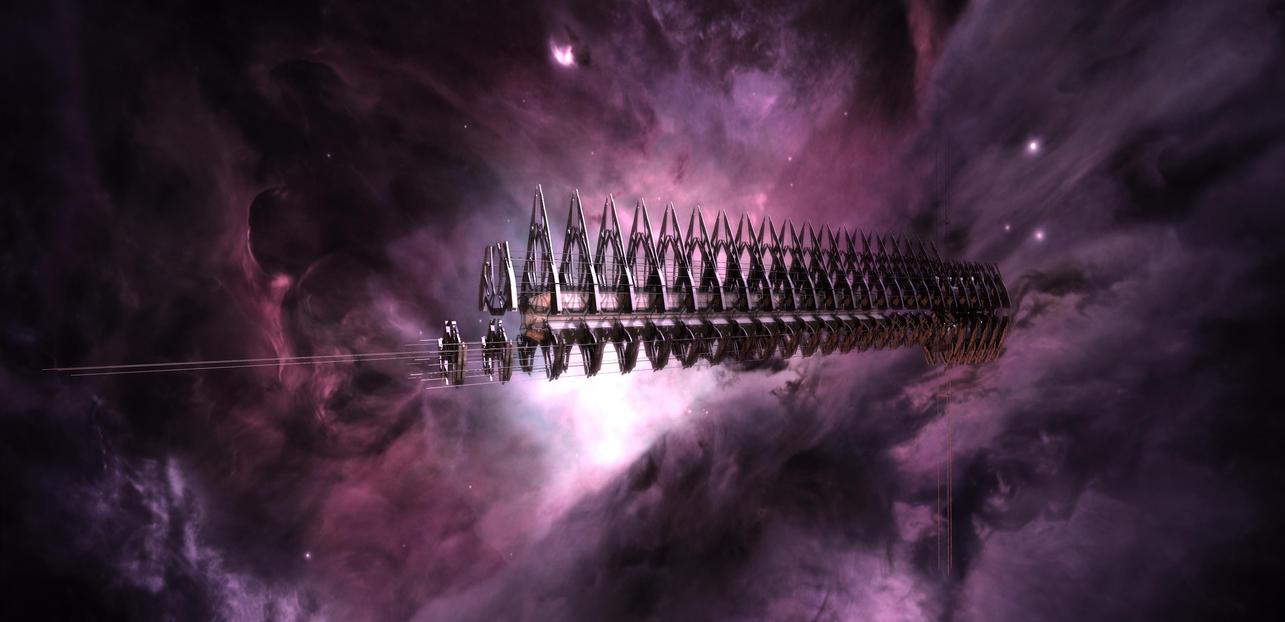 Cylon Resurrection Ship _WIP3_ by TodayV4