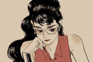wonder woman in college by jisook86