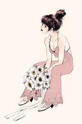 A bridesmaid