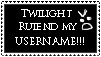 Twilight ruiend my username by Twilightkitty94