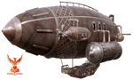 Steampunk Zeppelin 5 by PhoenixRisingStock
