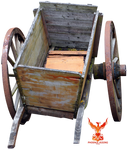 Old Wooden Cart by PhoenixRisingStock
