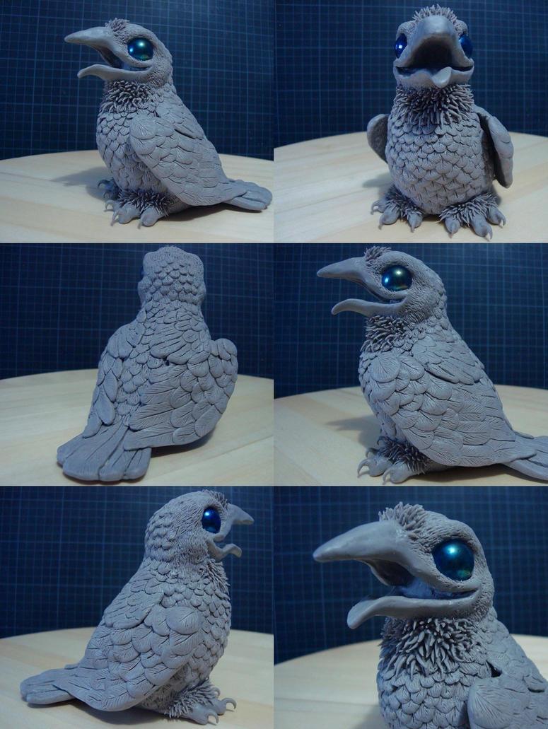 Baby Crow WIP by xiShadowWolfx