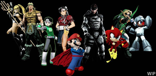 Justice League of Video Games (WIP) by frogsplash45