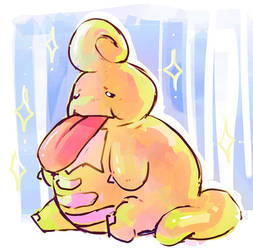 Lonely Shiny Lickilicky by hushcoil