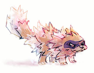 Zigzagoon- Serious, hates to lose by hushcoil