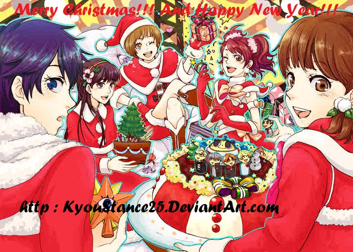 Persona 4 Christmas by KyouStance25 on DeviantArt