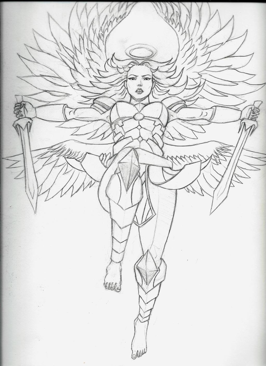 Angel warrior female by armageddon777 on DeviantArt