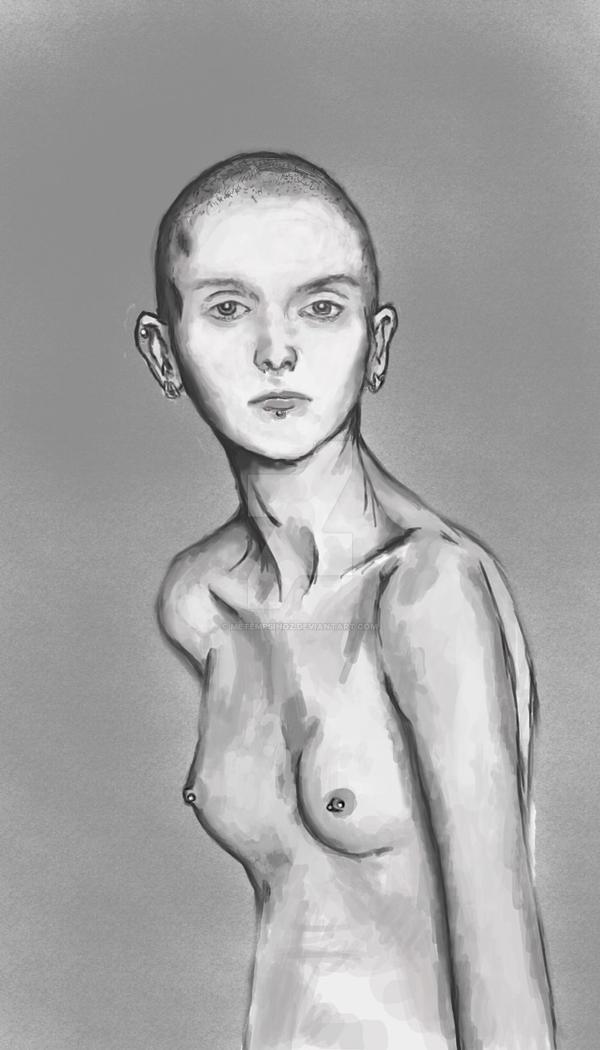 nude bold girl by Metempsihoz