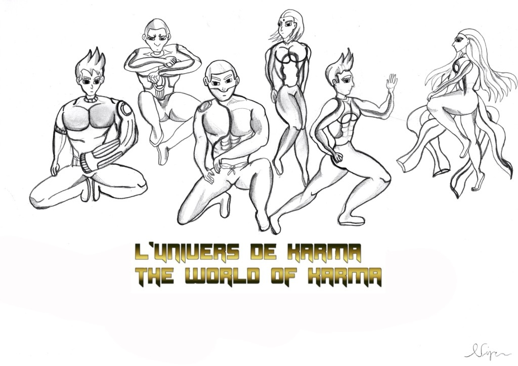 New chapter The characters of The World of Karma by Niponkarma