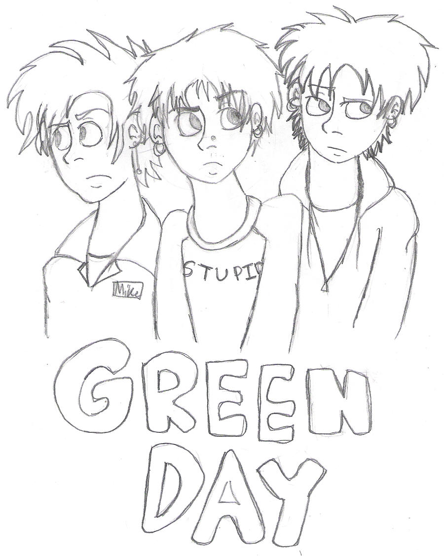 Green day band coloring pages