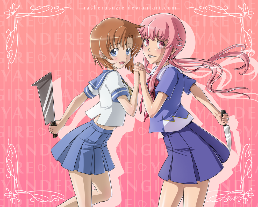 rena and yuno yandere best girl by rasherusuzie on deviantart