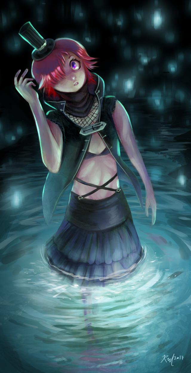 Lady in a Cave by RasheruSuzie
