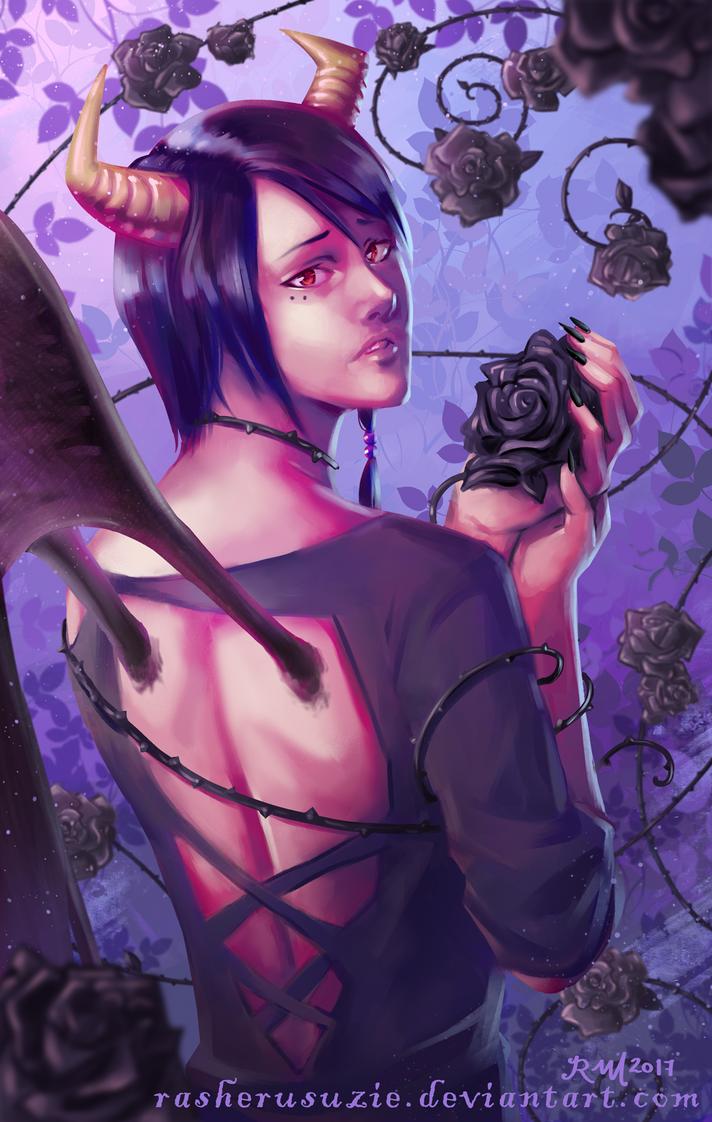 Black Rose Demon [R] by RasheruSuzie