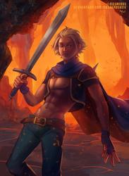 Casual Swordsman by RasheruSuzie