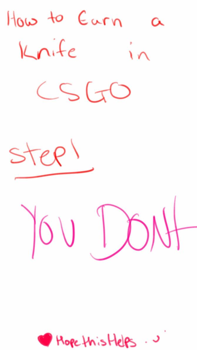 how to get a csgo knife easy