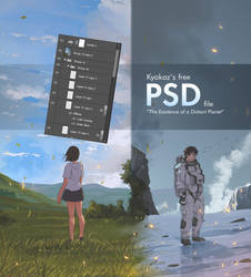 Free PSD file (The Existence of a Distant Planet)
