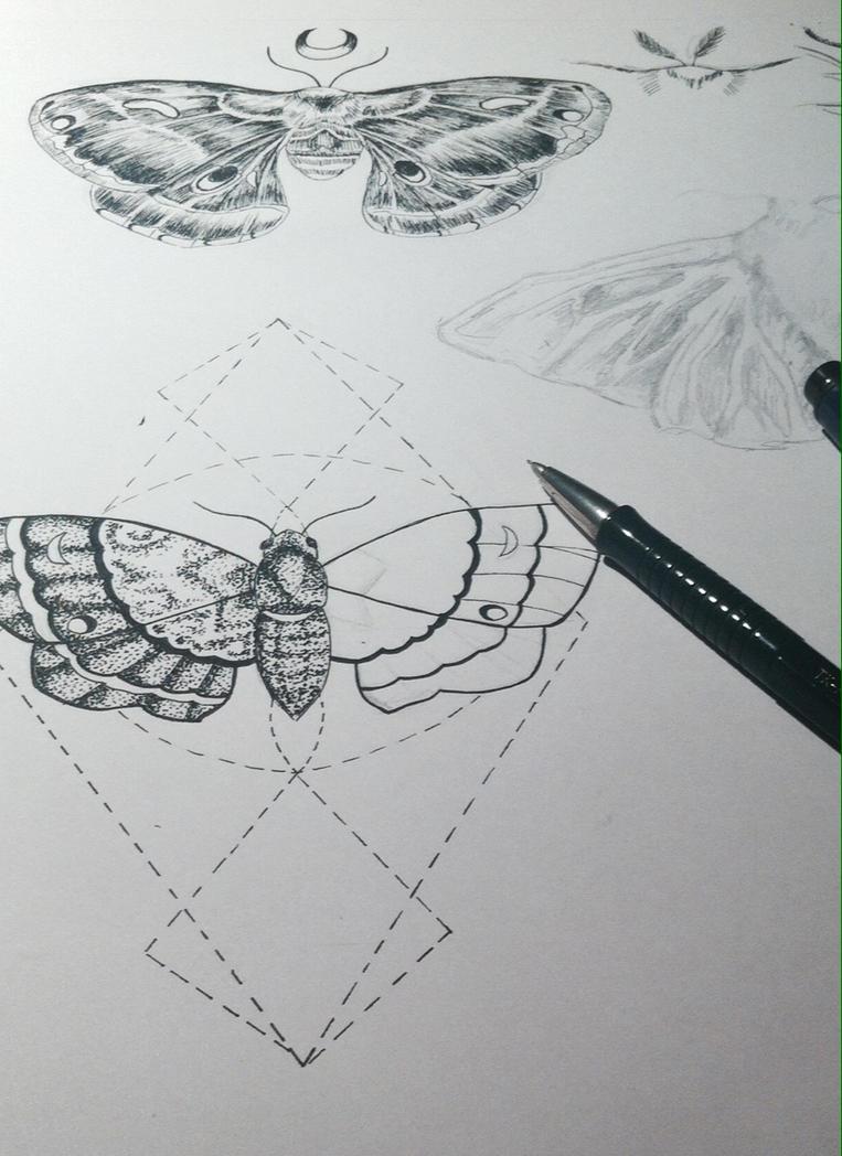 Moths Tatoo Designs by MonkeyOfTheCity