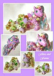 Flora and Fauna custom ponies by sammytvr