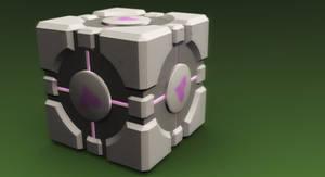 Companion Cube by thekingofthevikings