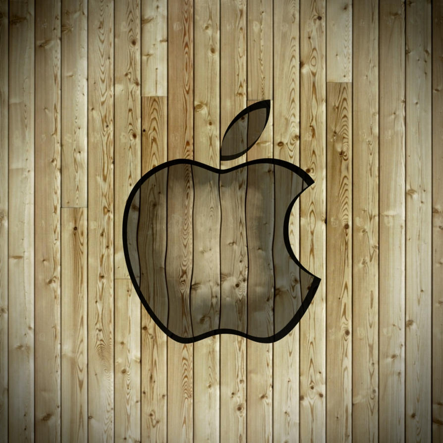 iPad Apple Wallpaper Wood by thekingofthevikings