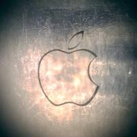 iPad Apple Wallpaper Metal by thekingofthevikings
