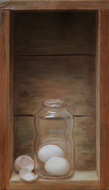 Still life with eggs and jar by sampoka
