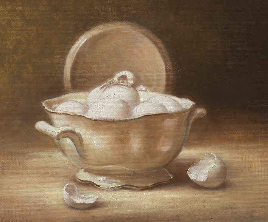 A Bowl With Eggs and Skull by sampoka