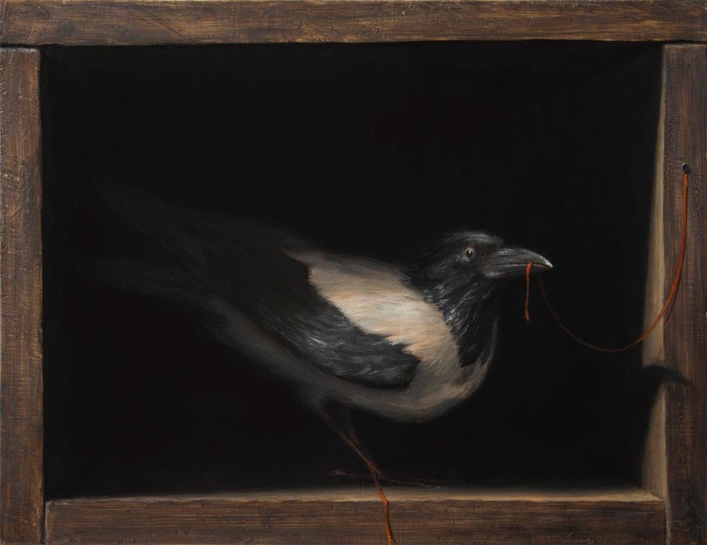 Selfportrait As a Crow by sampoka
