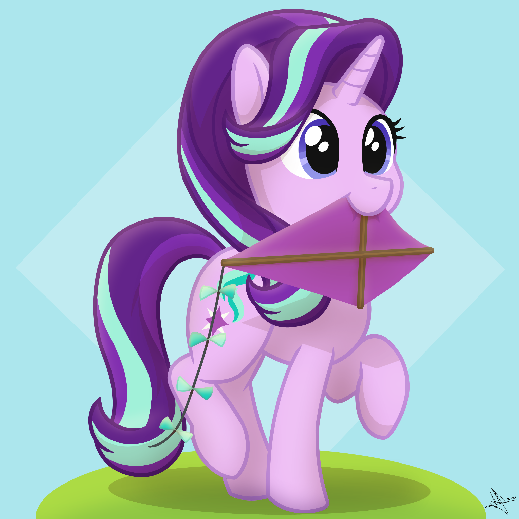 Starlight Glimmer and her kite