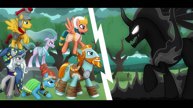 Speedpainting - The Pillars vs Pony of shadows