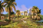 Scenery study - assassins creed origins by Moontowhee