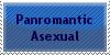 Panromantic Asexual Stamp by Merlineum