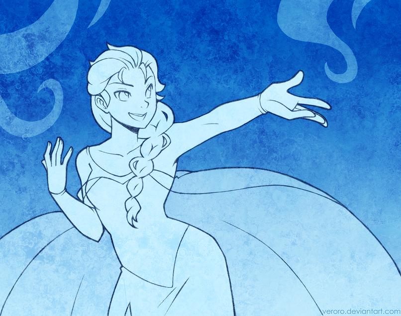 Elsa WIP by veroro