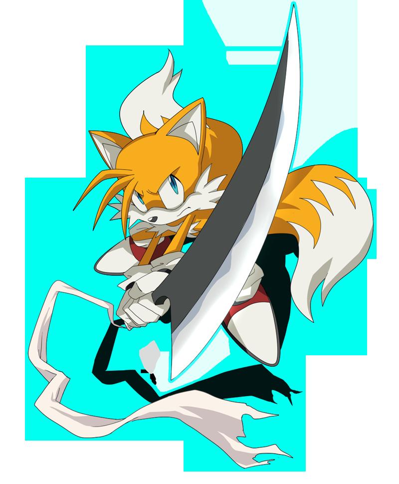 Tails with Zangetsu by LadyGT