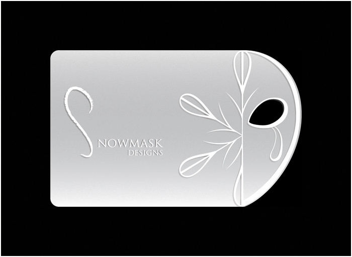 Snowmask Designs business card