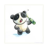 Panda Drink Tiem by snowmask