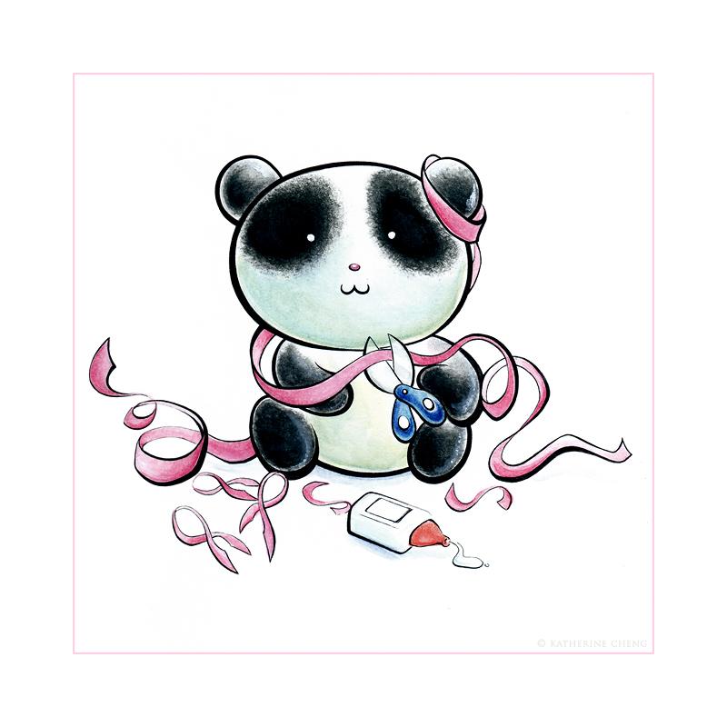 Panda Pink Tiem by snowmask