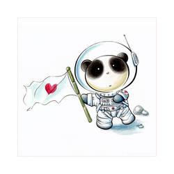 Panda Space Tiem by snowmask
