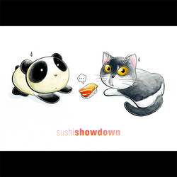 Panda Showdown Tiem by snowmask