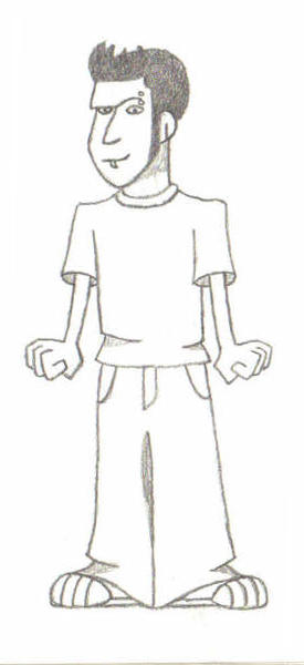 Cartoon Nate - Before