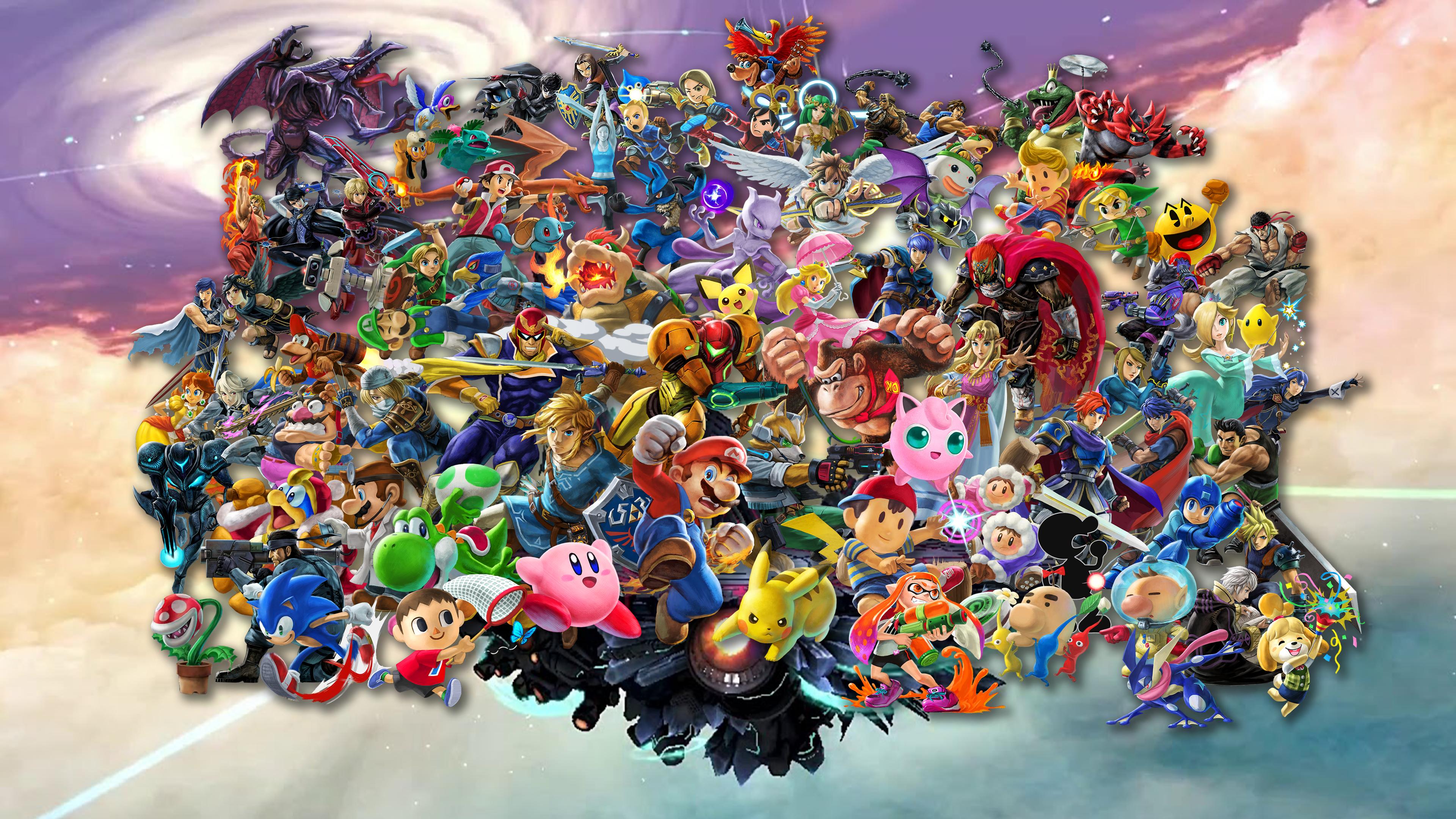 Super Smash Bros Ultimate 4k Wallpaper By Shinespritegamer On