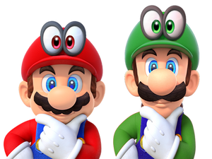 Super Mario Odyssey - Mario and Luigi Thinking!