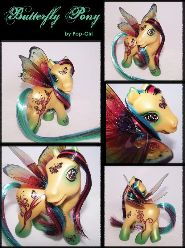 Custom Butterfly Pony by pop-girl
