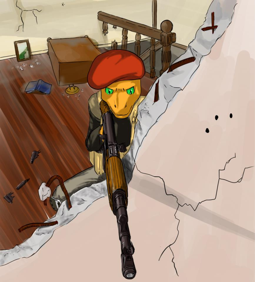 that's me, the lizardman mercenary (not my work) by AkKAla5H