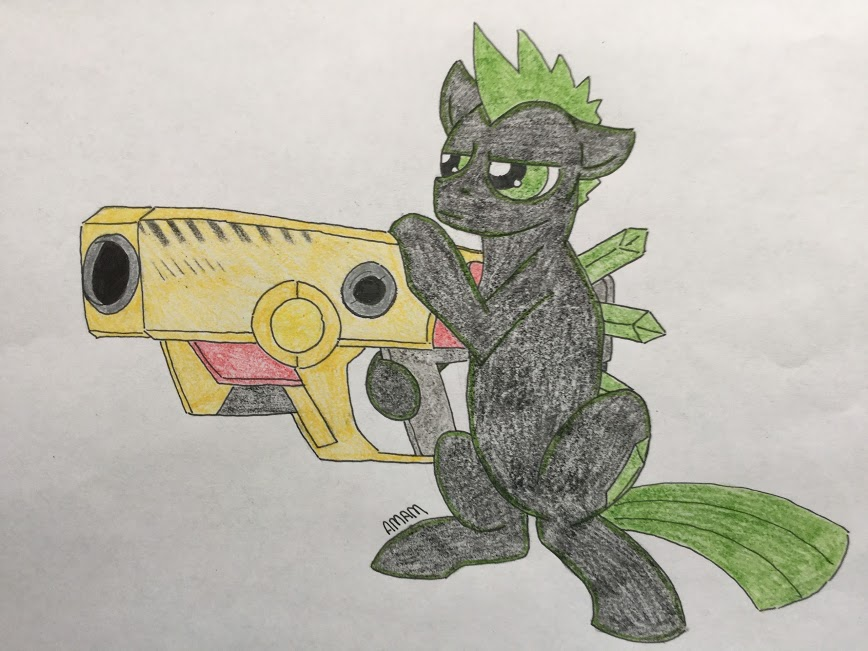 Gun weilding_mutant_stallion (request) by ashleymcm