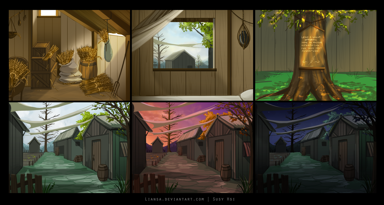 Visual Novel Background Art by Liansa