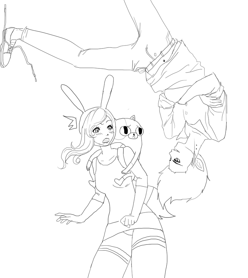 Fionna and Marshall Lee of Adventure Time by mrzbean on ...