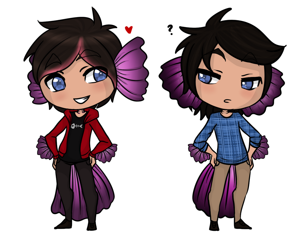 The fish twins by lady akito on deviantart for 94 1 the fish