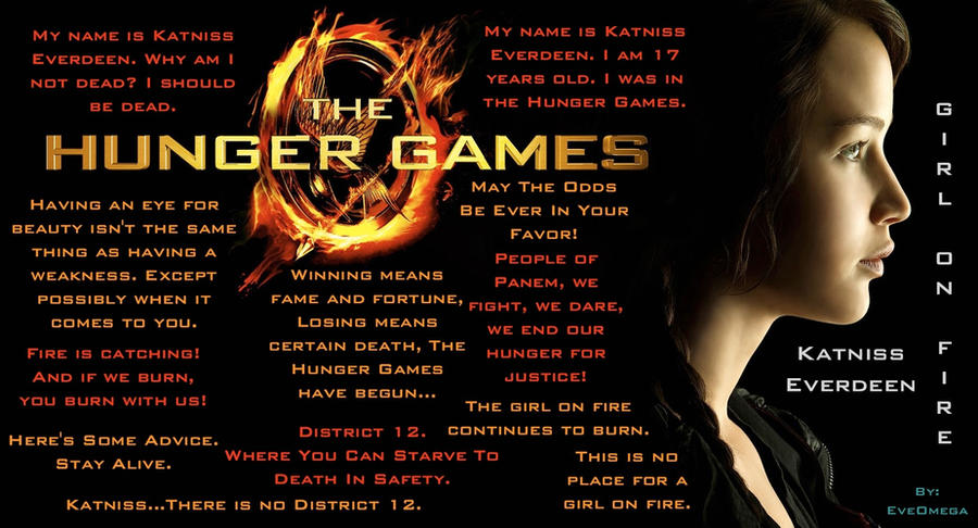 Hunger Game Quotes Gorgeous The Hunger Games Quoteseveomega On Deviantart